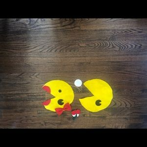 Felt Pac-Man and pac lady